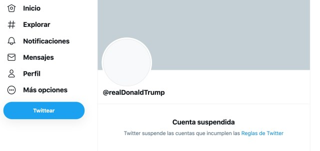 cuenta Trump Twitter