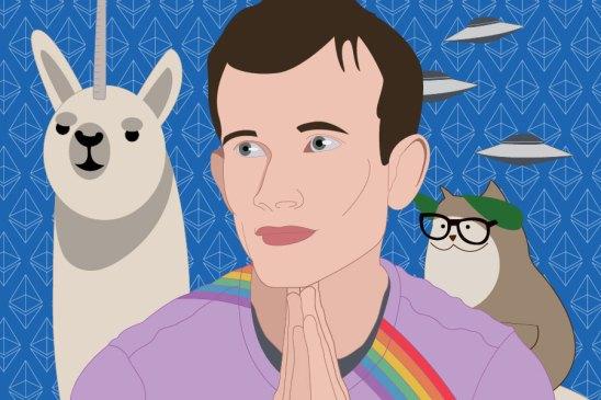 Vitalik Buterin, ilustracion para DiarioBitcoin por NicoleLeon.Design