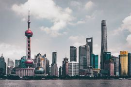 china shanghai edificios skyline via Unsplash