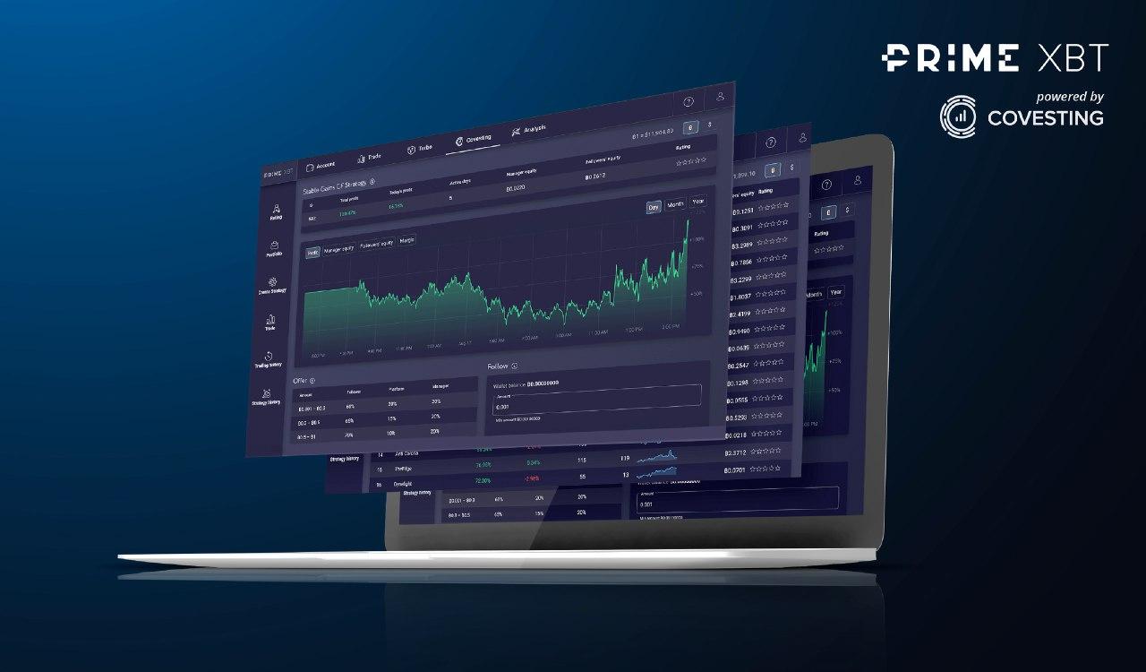 Covesting desarrolla cuentas generadoras de rendimientos para PrimeXBT