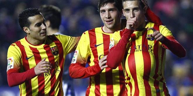El Barca deja sentenciado pase  en Copa y Real Sociedad deberá pelear