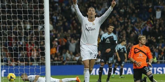 """Real Madrid golea con sufrimiento y """"doblete"""" de Cristiano"""