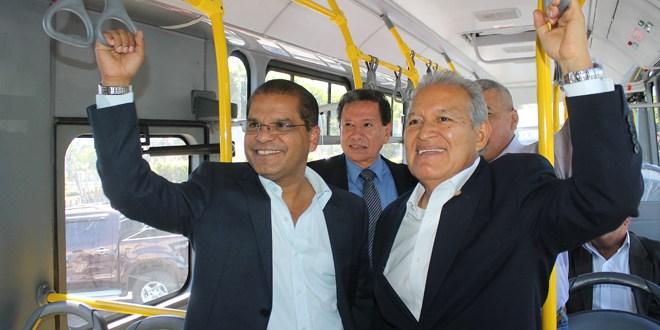 Fórmula del FMLN se compromete a ejecutar programas para beneficio del transporte público