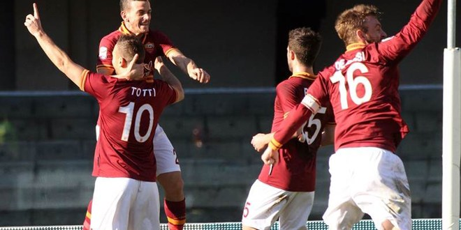 Roma gana al Verona y se acerca a seis puntos de la Juve