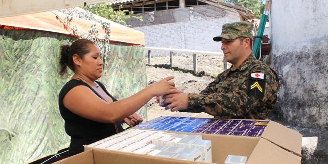 Instalan campamento militar de rescate para asistir a habitantes del Chaparrastique