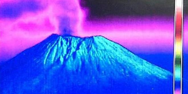 Volcán Chaparrastique hace nueva explosión de gases y cenizas