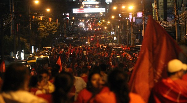 FMLN celebrará junto a militancia triunfo electoral de fórmula presidencial