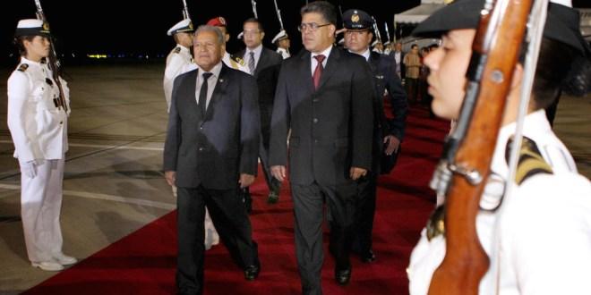 Presidente electo Salvador Sánchez Cerén visita Venezuela
