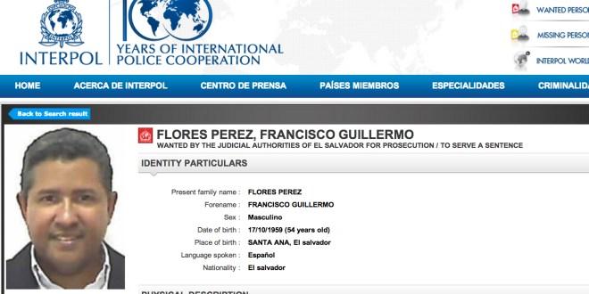 Interpol  emite difusión roja en 190 países,  en contra del ex presidente Francisco Flores