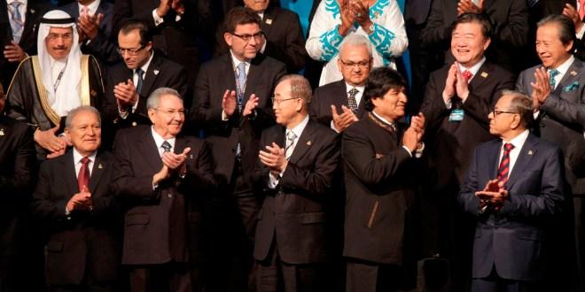 """""""En un nuevo orden para vivir bien, ningún rincón del planeta puede carecer de servicios básicos para su gente"""": Sánchez Cerén"""