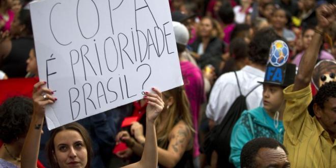Brasil, en alerta ante posibles  protestas masivas contra el Mundial