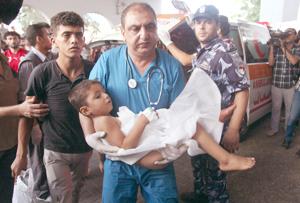 """""""En Gaza estamos hartos de recoger a 'terroristas' de pocos meses de vida en nuestras manos"""""""