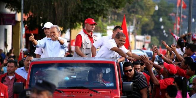 En primera vuelta, el FMLN obtiene mayoría  de votos en casi todo el país