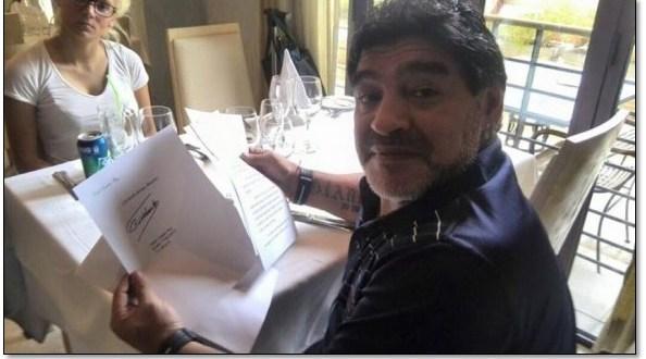 Envía Fidel carta a Diego Armando Maradona