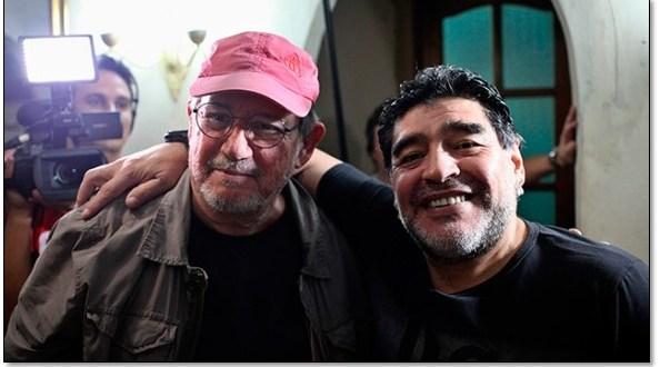 Maradona asiste a concierto de Silvio Rodríguez en La Habana