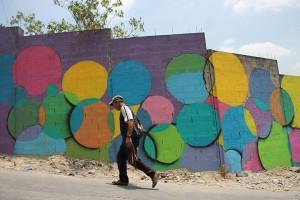 Los grafitIs de pandillas han sido sustituidos por murales creativos. Foto Diario Co Latino/ Rodrigo Sura.