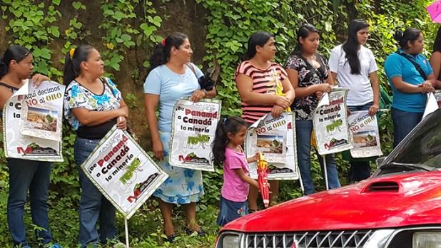 Comunidades en contra de la minería. Foto Diario Co Latino/Oscar López