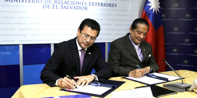 El Salvador recibe $1 millón 300 mil de Taiwán  para proyectos del Programa de Cooperación