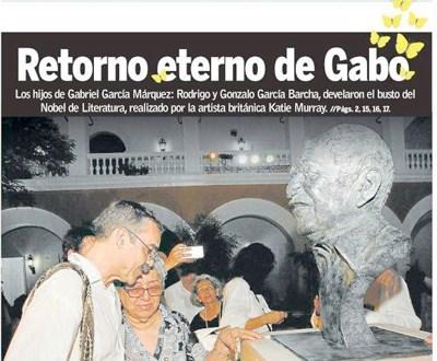 Las cenizas de García Márquez ahora descansan en Colombia