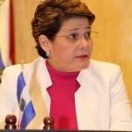 """La diputada del FMLN, Jackelyne Rivera, dijo que el antejuicio abierto contra el General Atilio Benítez tiene como propósito de la derecha """"poner a pelear"""" al ejército contra al Gobierno. Foto Diario Co Latino."""