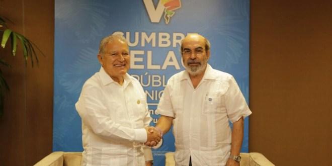 Presidente Sánchez Cerén se reúne con director general de la FAO