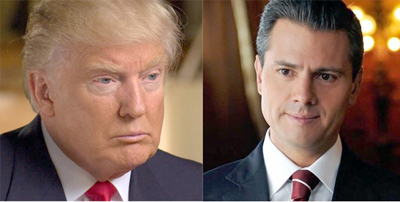 Trump y Peña Nieto acuerdan no hablar en público de muro para aliviar tensión