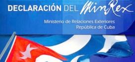 Cancillería de Cuba anuncia fracaso de provocación anticubana