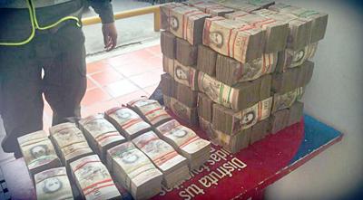 Incautan en Paraguay 600 bolsas con 30 toneladas de billetes de Venezuela