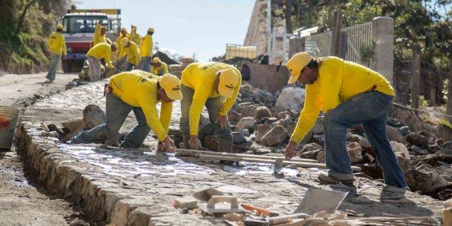 MOP avanza 89% en proyecto calle cantón Tejera-Paso  El Mono, Arambala, Morazán