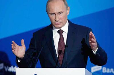 Putin niega intención de guerrear o competir con Estados Unidos