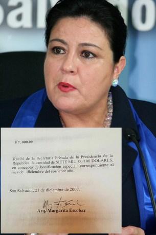 Diputada de ARENA, Margarita de Escobar.