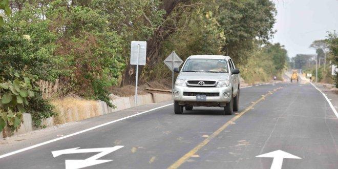 MOP entrega pavimentación de ruta camaronera Jiquilisco, Usulután