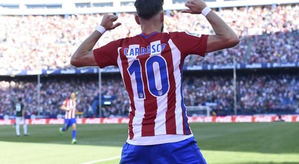 Atlético se impone al Osasuna con doblete de Carrasco