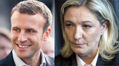 Inicia el duelo entre Macron y Le Pen por la presidencia de Francia