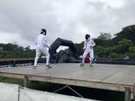 Diferentes disciplinas deportivas realizaron demostraciones en el Parque Bicentenario, como parte de la carrera en conmemoración al Día Olímpico. Foto Diario Co Latino/COES