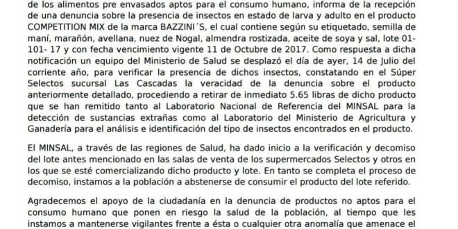 Autoridades alertan y piden no comprar productos alimenticios en cadena de supermercados