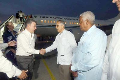 Presidente de Colombia inicia agenda oficial en Cuba