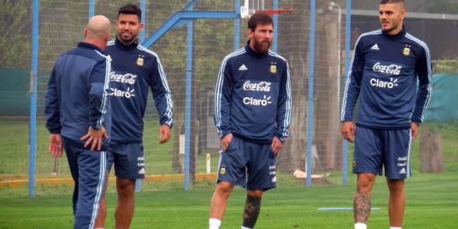 Sampaoli piensa atacar  con Messi, Dybala e Icardi