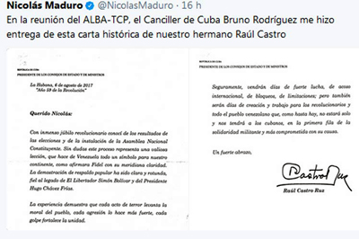 Cuba felicita al pueblo Venezolano por instalación de Asamblea Nacional Constituyente