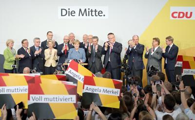 Merkel promete una mayoría estable tras su victoria en las elecciones