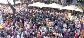 Protestas en Cataluña tras la detención de trece altos miembros del gobierno regional