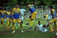 Pasaquina venció a Sonsonate, que no supo mantener la ventaja en el marcador. Foto Diario Co Latino/ Sonsonate.