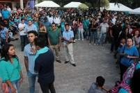 Personas asistieron en mediana cantidad al evento. Foto Diario Co Latino/ David Martínez.