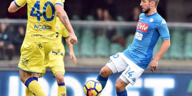 Napoli empató 0-0 con el Chievo Verona y cedió su terreno en la punta de la Liga Italiana.  / Foto Diario Co Latino/Napoli