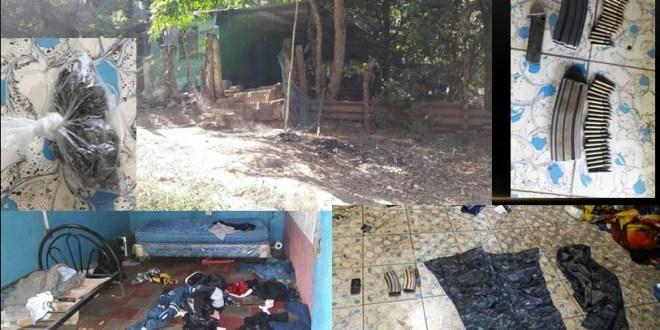 Pandilleros huyen y abandonan casa destróyer
