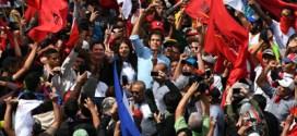 """Masiva marcha contra """"robo"""" de las elecciones en Honduras"""