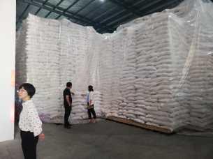 Azúcar refinada proveniente de El Salvador, en la fábrica Fujian Sugar Industry Company, ubicada en Zhangzhou. Foto Diario Co Latino/Joaquin Salazar