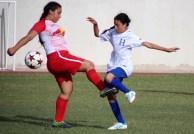 El equipo femenino salvadoreño perdió contra Honduras. Foto Diario Co Latino/INDES.
