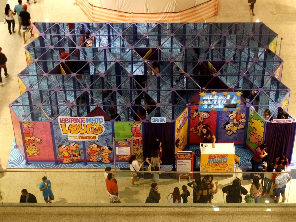 Labirinto da Turma da Mônica faz sucesso no Balneário Shopping