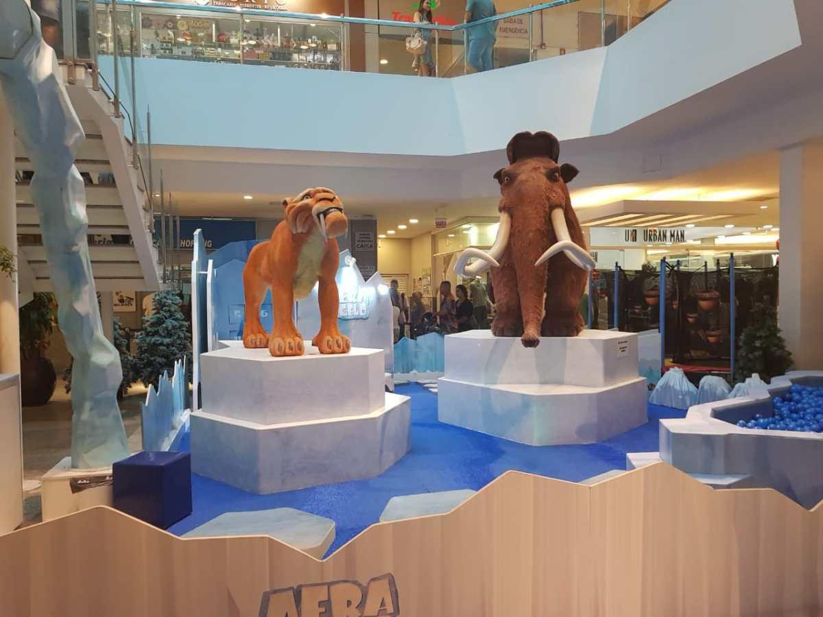 Itajaí Shopping lança campanha do agasalho com temática da animação A Era do Gelo